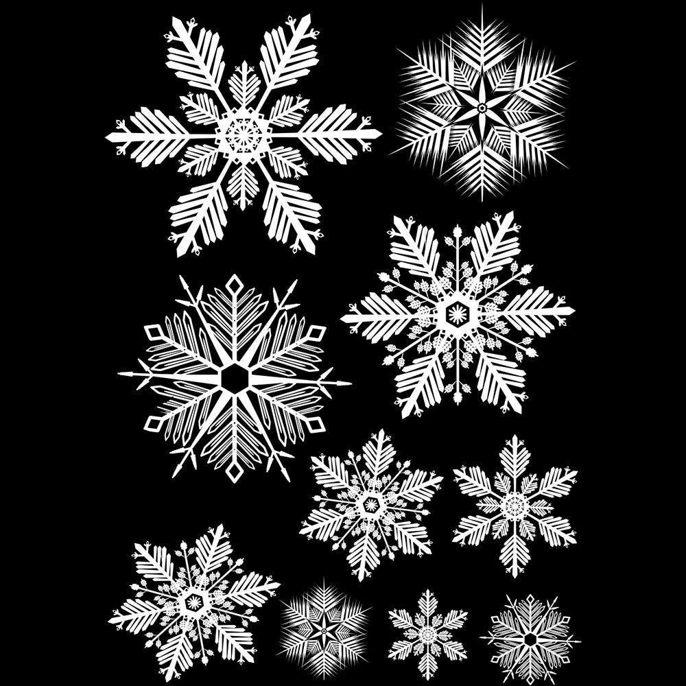 10 Cristaux blancs - 50 x 70 cm