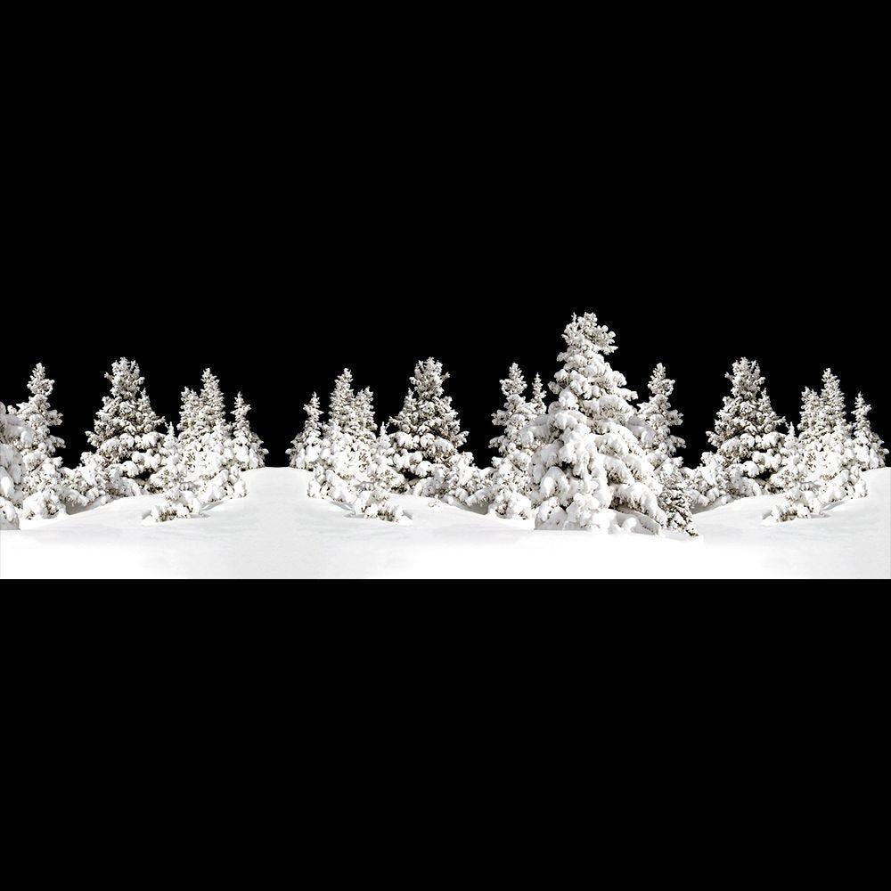 Frise de paysage de neige - 60,5 x 202 cm