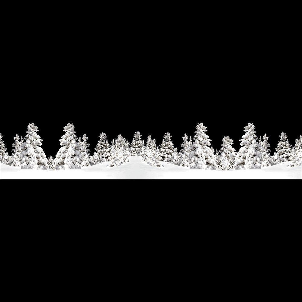 Frise de paysage de neige géante - 60,5 x 322 cm