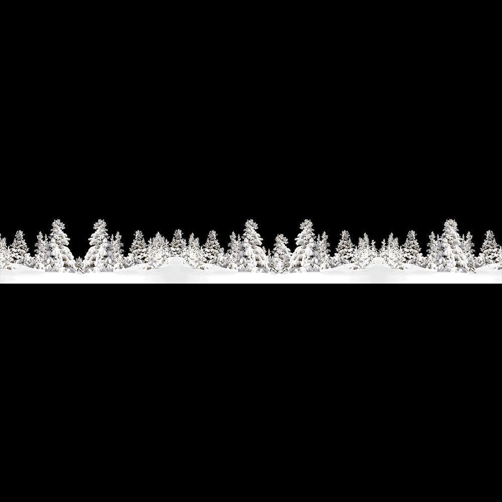 Frise de paysage de neige super géante - 60,5 x 468 cm