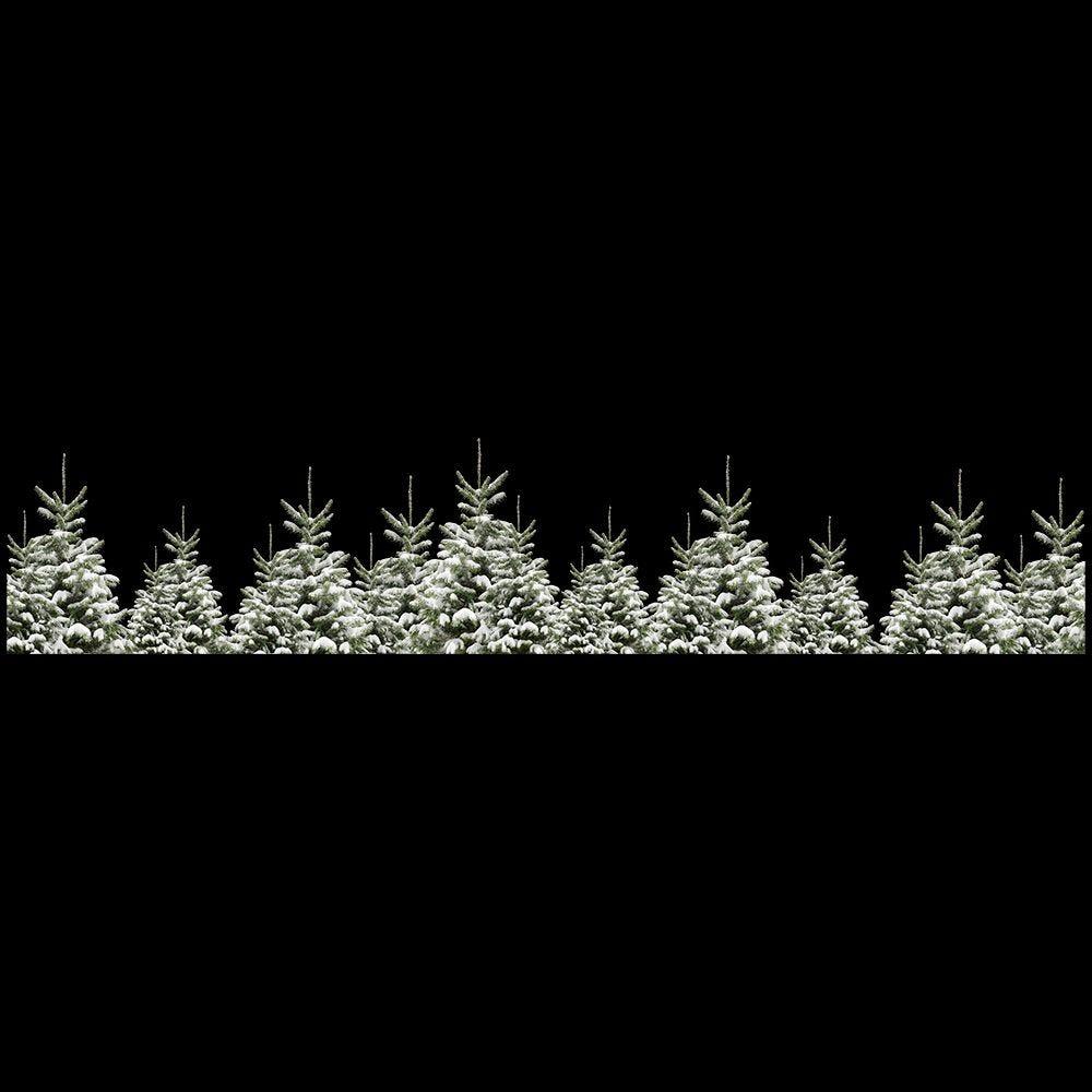 Frise de sapins enneigés géante - 60,2 x 300 cm