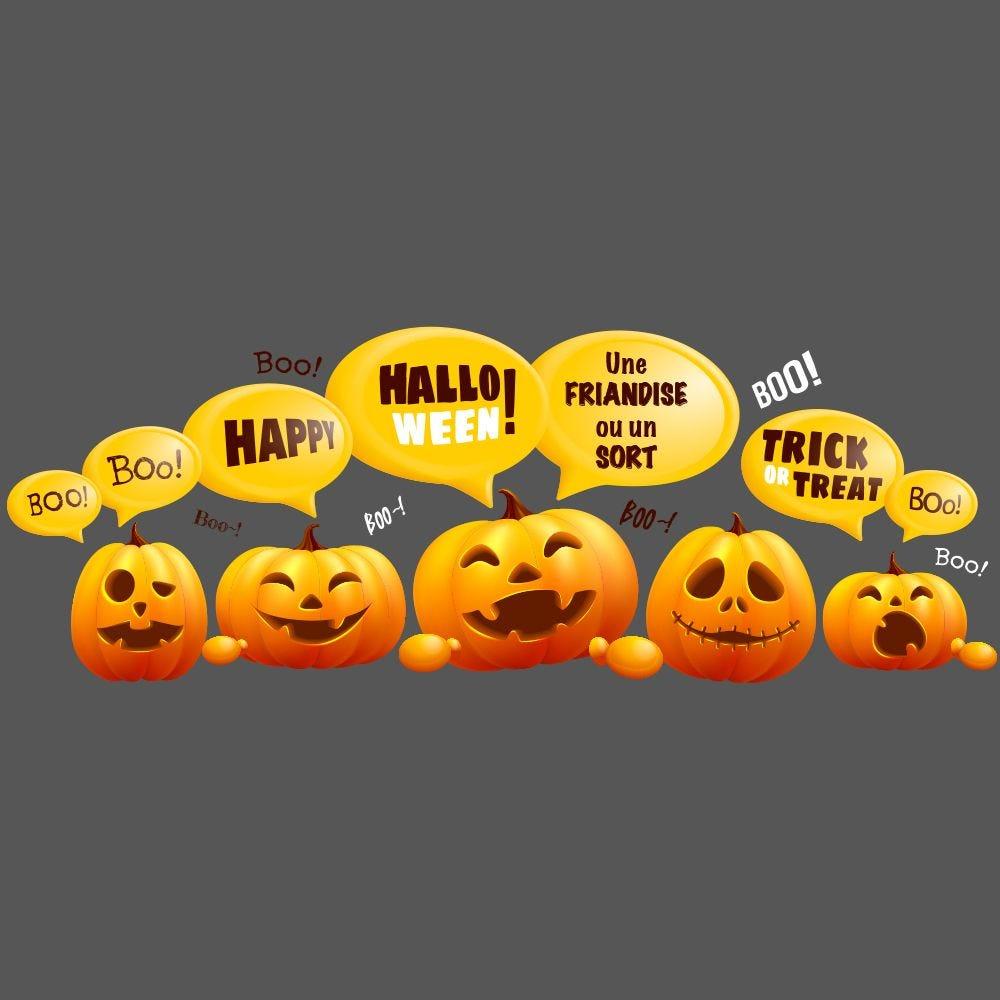Frise géante de citrouilles bulles d'Halloween - 68 x 189,5 cm