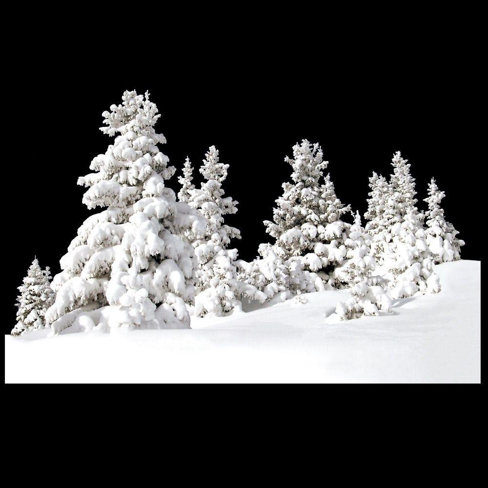 Vitrophanie frise de paysage de neige - 70 x 100 cm