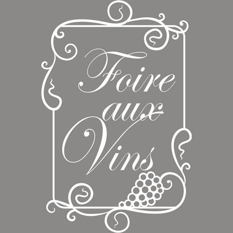 Vitrophanie caviste cadre foire aux vins - 70 x 100 cm