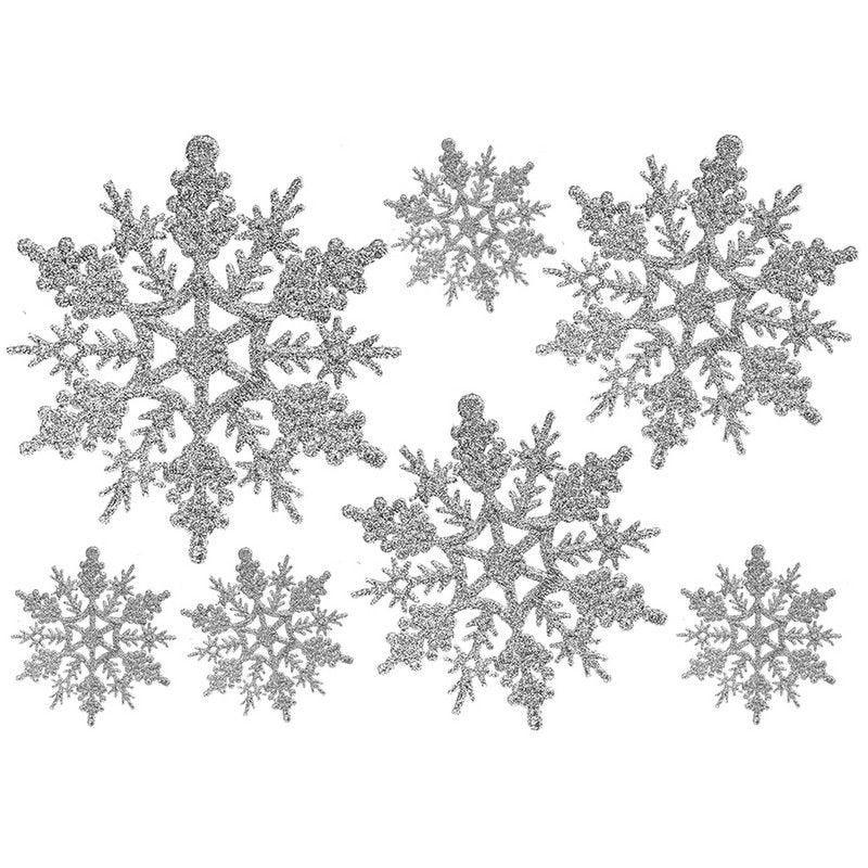 Vitrophanie cristaux argent - 70 x 100 cm