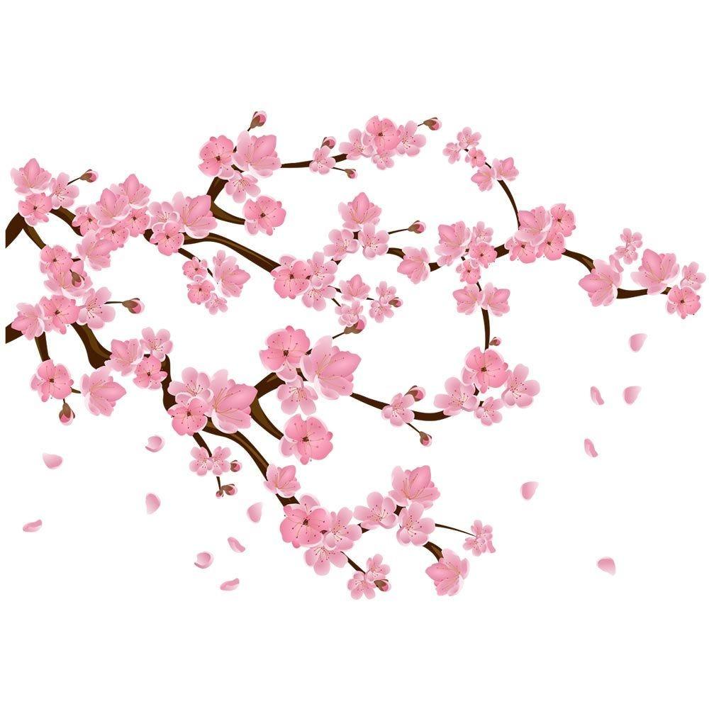 Vitrophanie branche de cerisier en fleurs - 94 x 135 cm