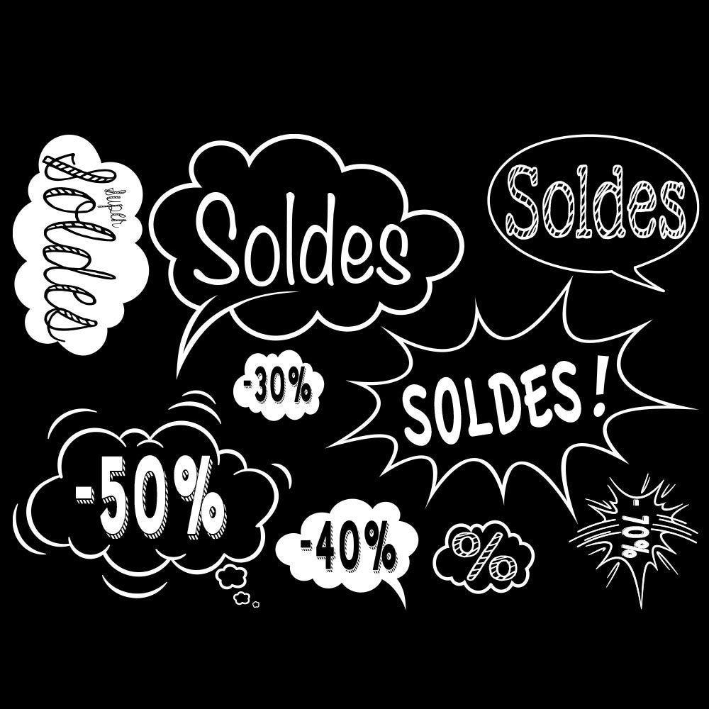 Vitrophanie bulles et éclatés Soldes - 70 x 100 cm