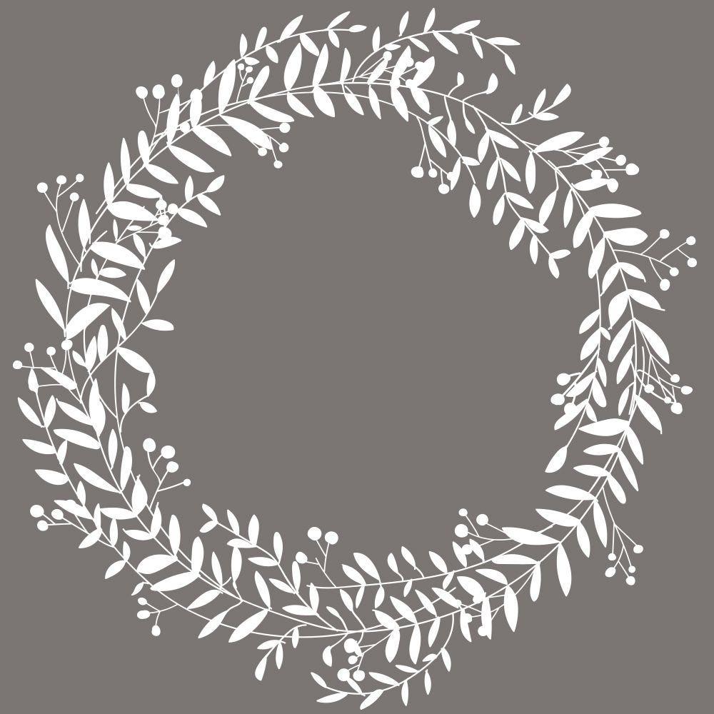 Vitrophanie couronne de laurier - ø 48 cm