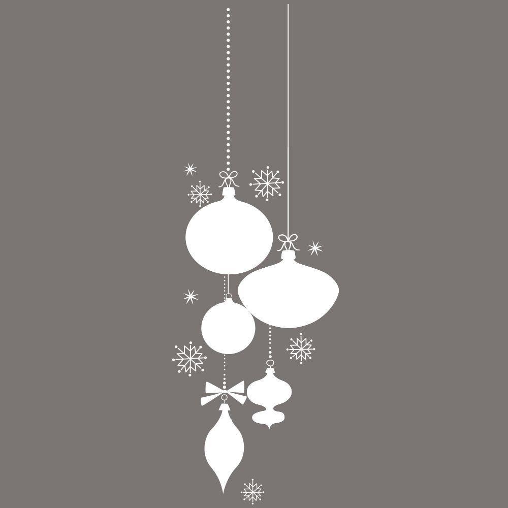 Vitrophanie suspension de boules de noël  -g- 66 x 198 cm