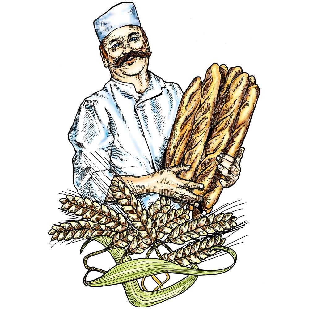 Vitrophanie boulanger - 70 x 100 cm