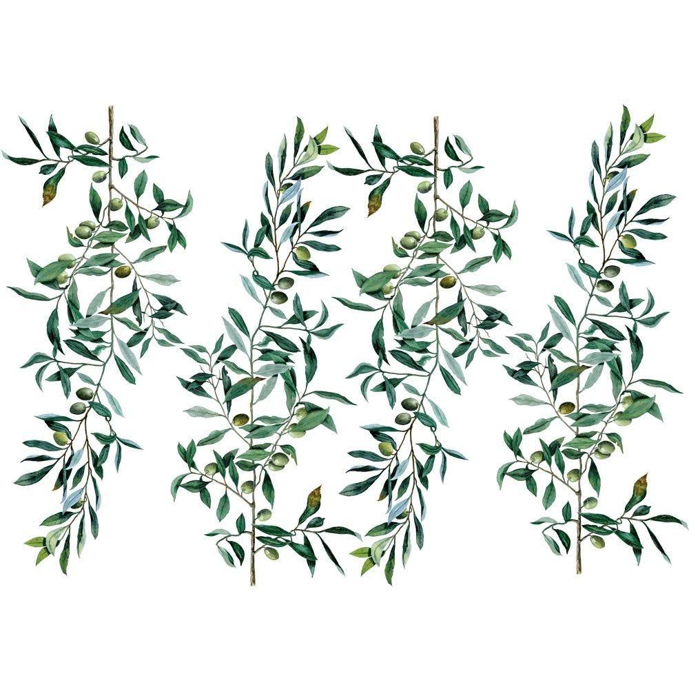 Vitrophanie branches d'olivier - 70 x 100 cm