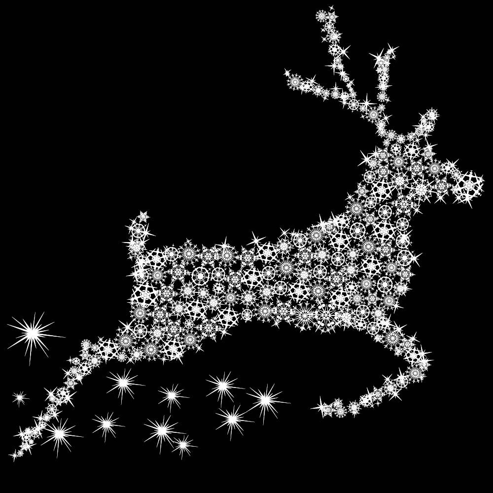 Sicker renne en cristaux blanc 70 x 100 cm (photo)