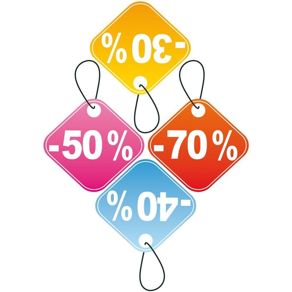 Vitrophanie Etiquettes pourcentages - 70 x 100 cm