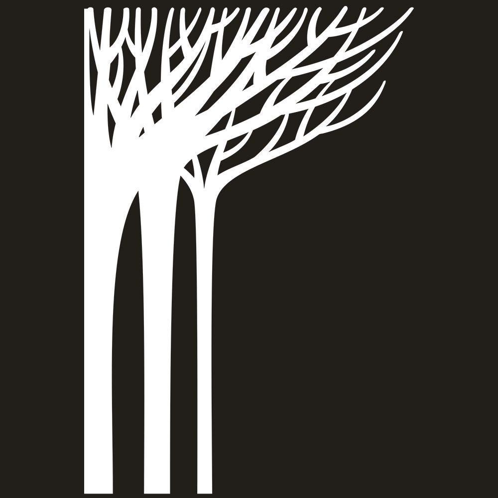 Vitrophanie forêt givrée angle gauche - 135 x 200 cm