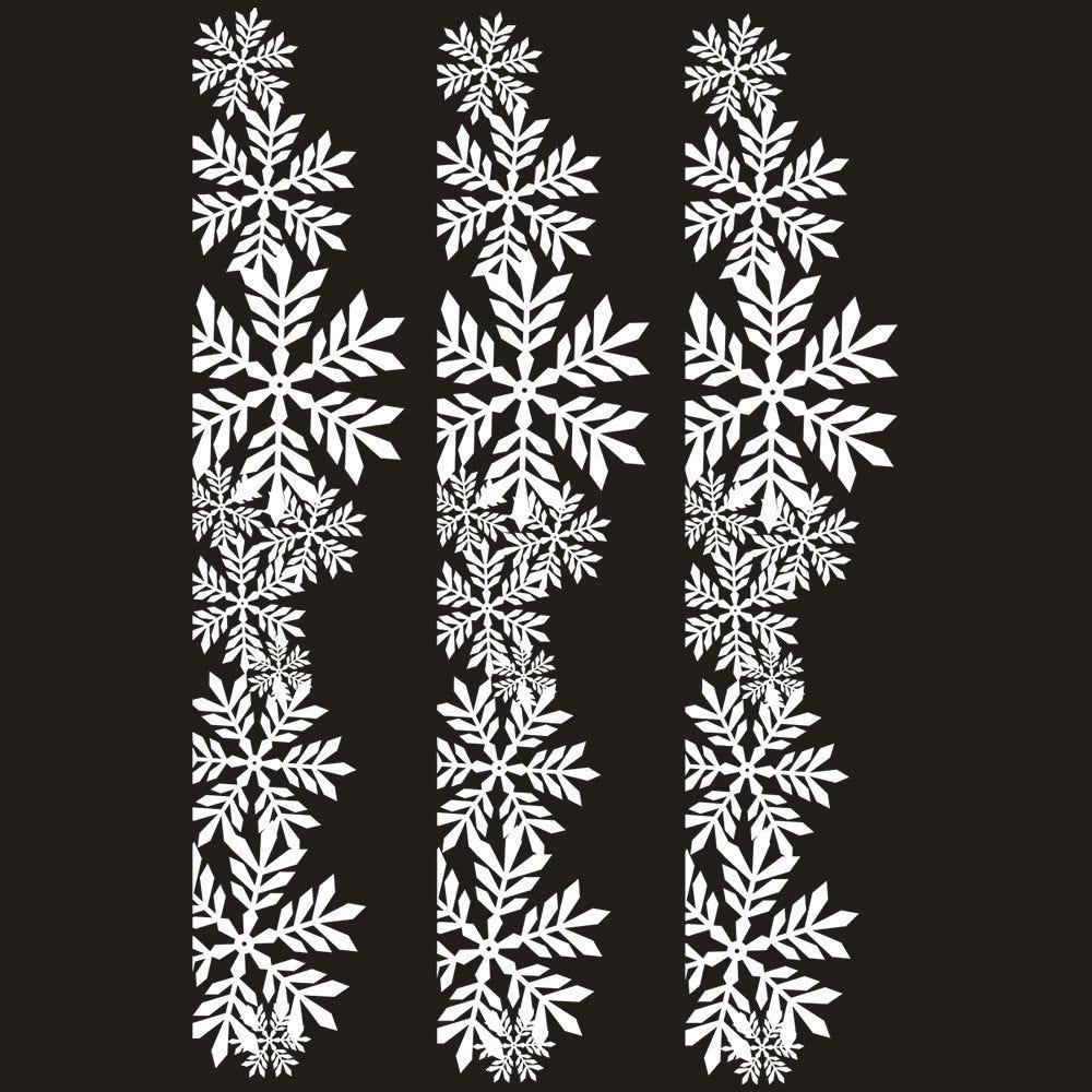 Vitrophanie frises  de cristaux chics blancs - 70 x 100 cm