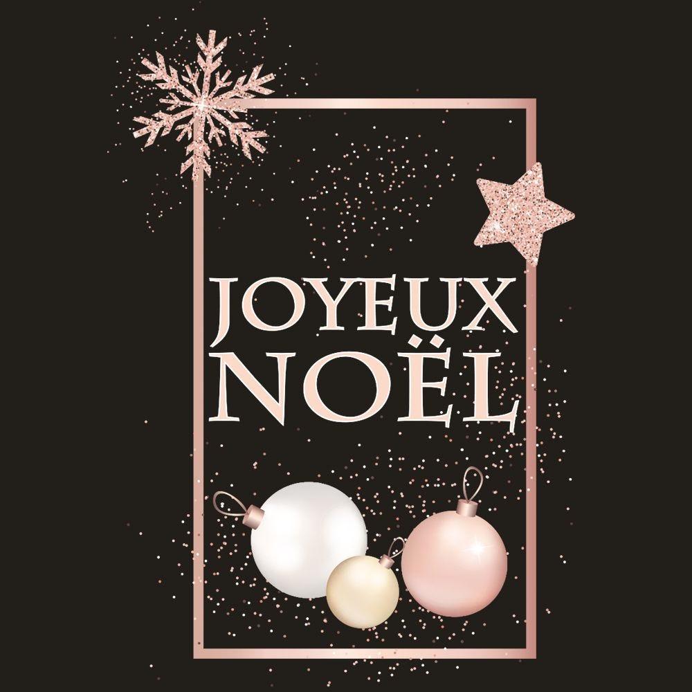 Vitrophanie pancarte joyeux noël - 47,4 x 68 cm