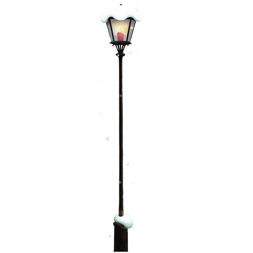 Vitrophanie lampadaire enneigé - 32,5 x 190 cm