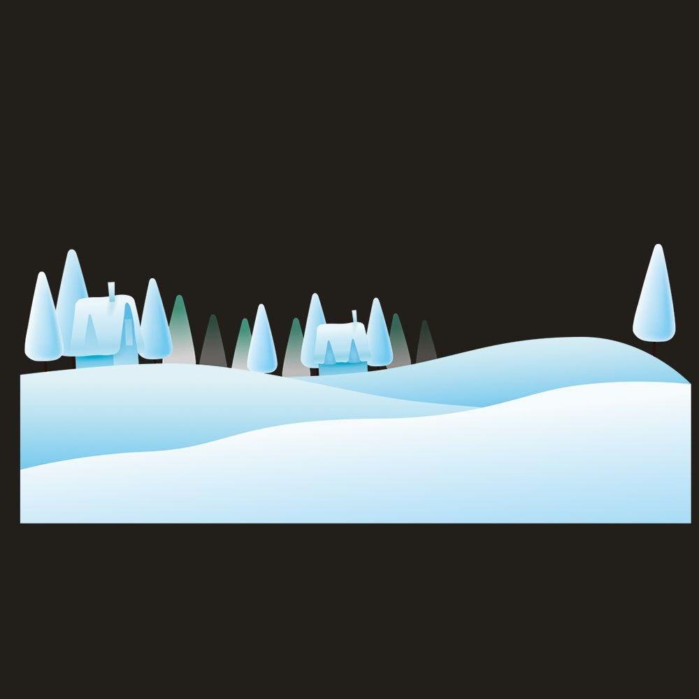 Vitrophanie paysage de neige 1 - 56,3 x 135 cm