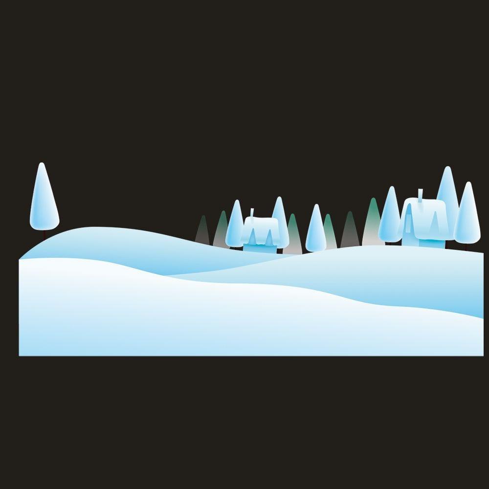 Vitrophanie paysage de neige 2 - 40,9 x 98 cm