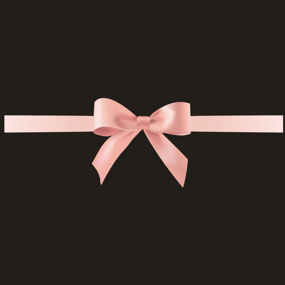 Vitrophanie nœud cadeau rose - 28 x 90 cm