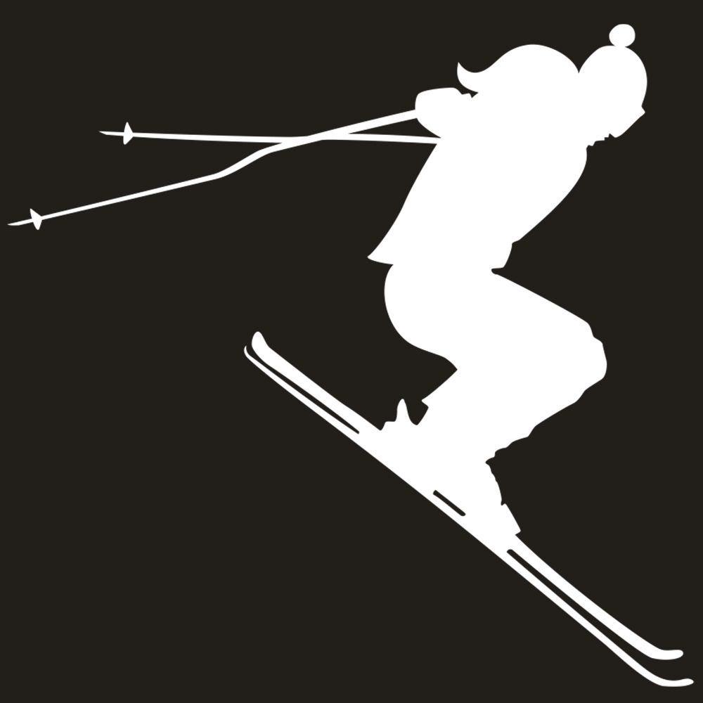 Vitrophanie skieur - 44,5 x 68 cm