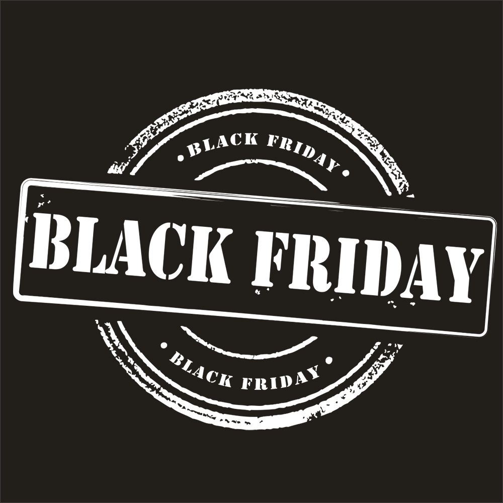 Vitrophanie petit label black friday blanc - 50 x 70 cm