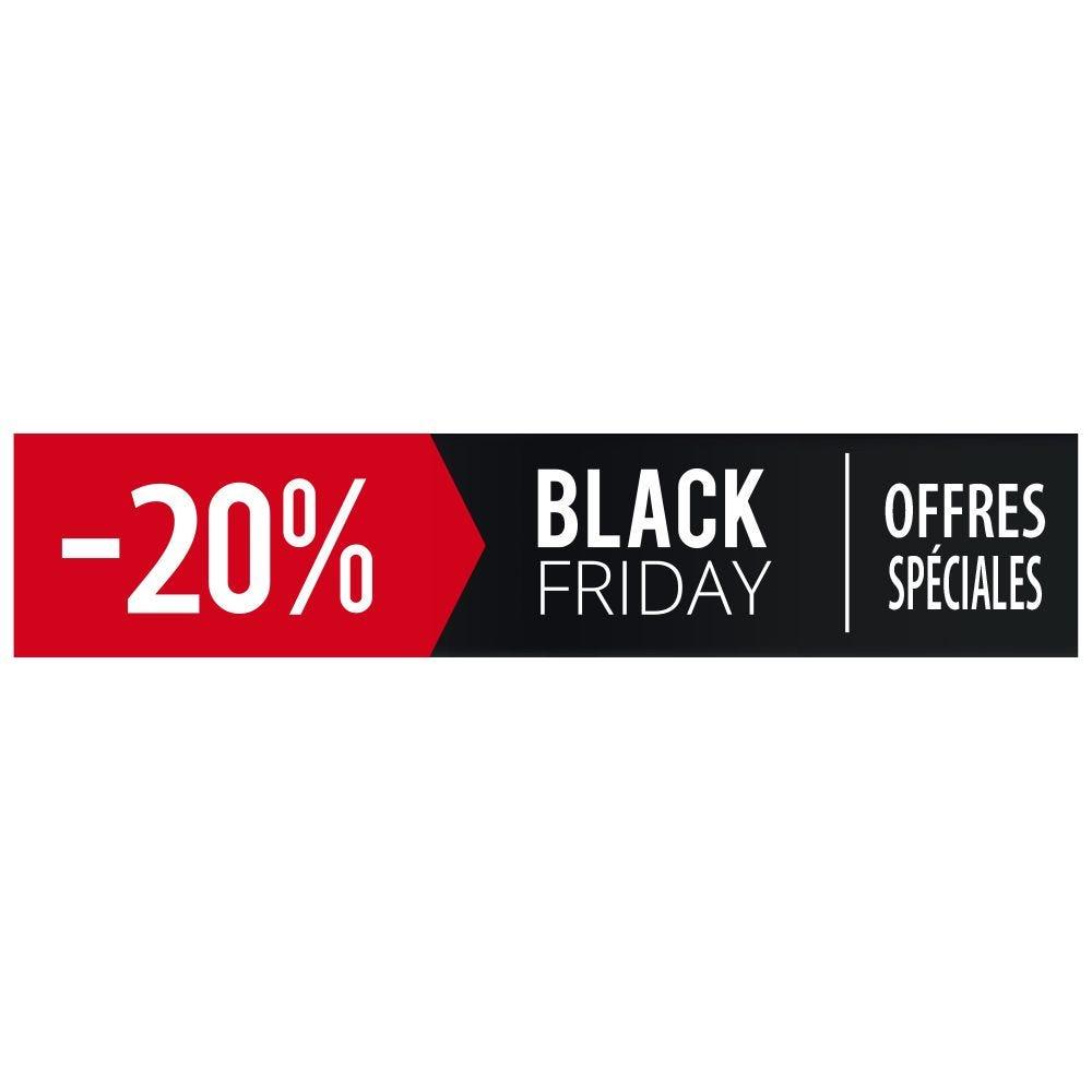 Vitrophanie petit bandeau black friday - 20 % - 20,8 x 98 cm