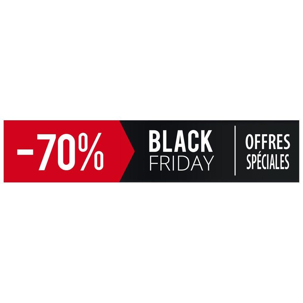 Vitrophanie petit bandeau black friday - 70 % - 20,8 x 98 cm