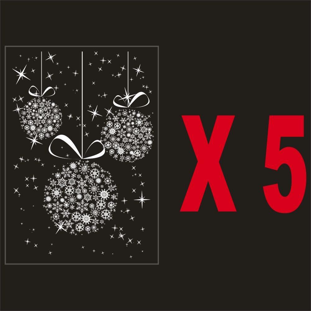 Pack promo 5 vitrophanies suspensions de boules en cristaux