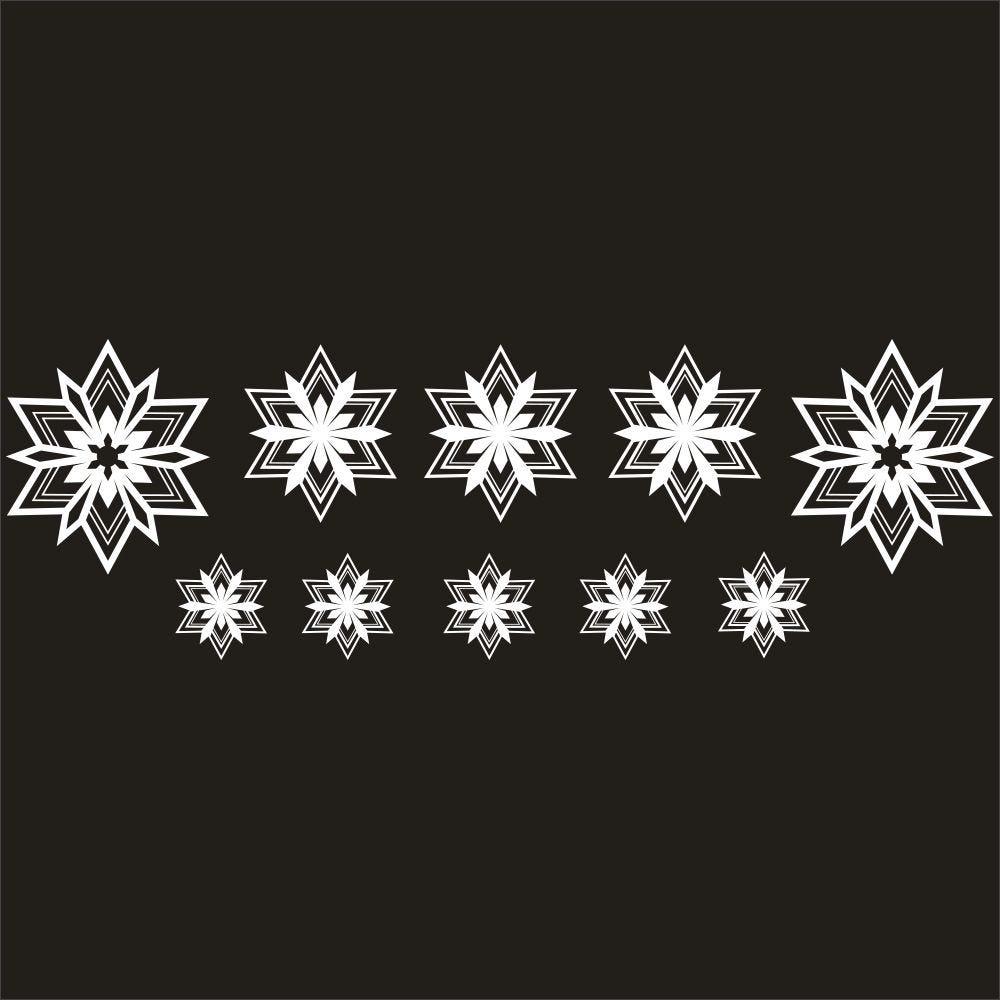 Vitrophanie petits cristaux blancs - 33 x 98 cm