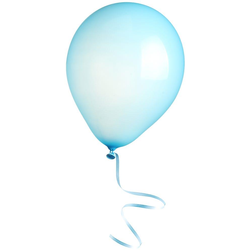 Vitrophanie petit ballon bleu - 16 x 33 cm