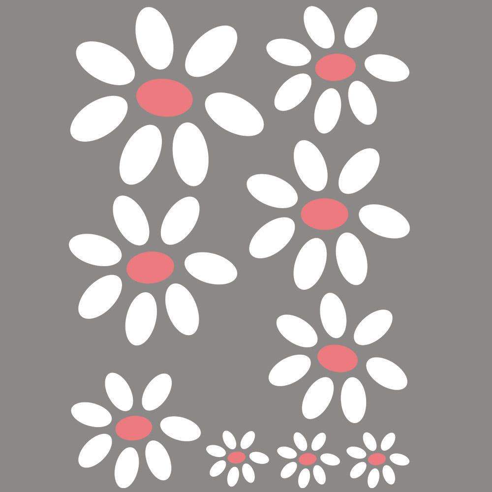 Vitrophanie petites fleurs à découper - 50 x 70 cm