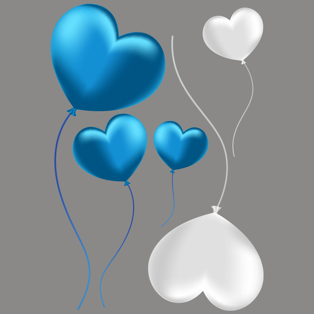 Vitrophanie petits ballons coeurs - 50 x 70 cm