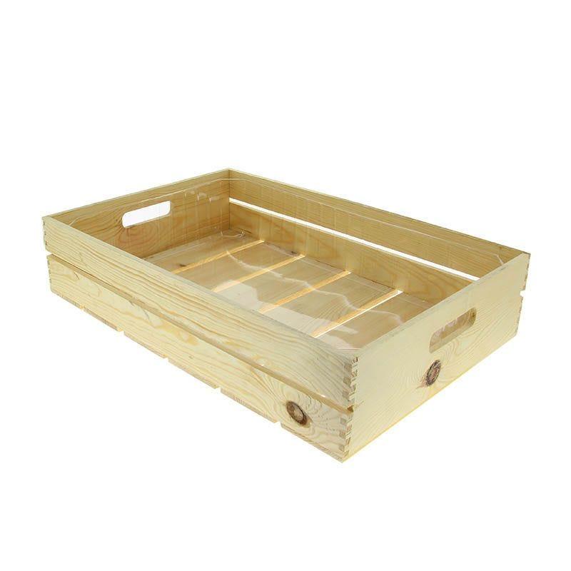 Cagette bois + fond plastique rectangle gm - par 5