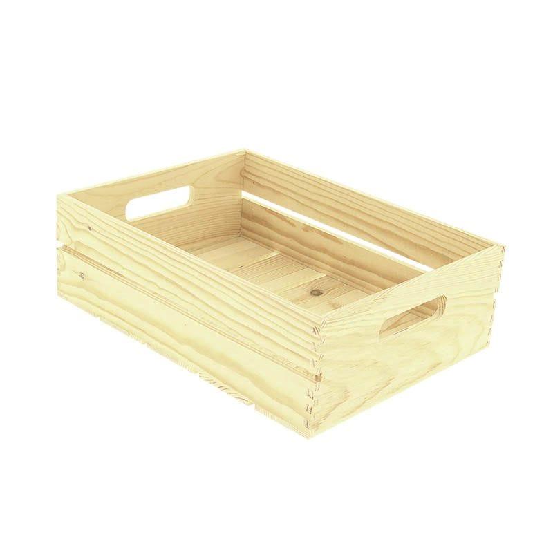 Cagette bois rectangle pm - par 12
