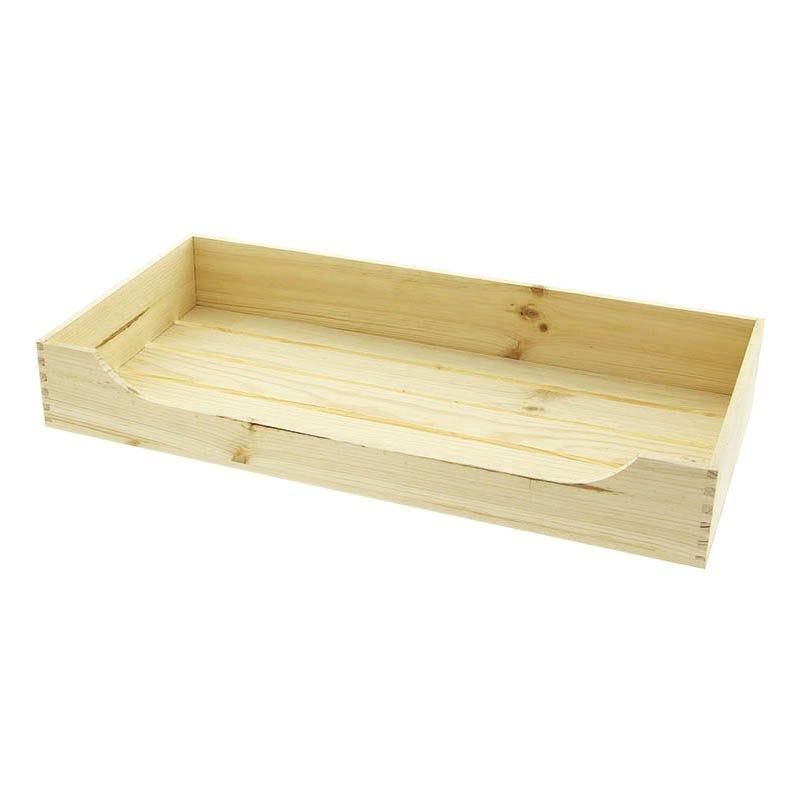 Cagette bois gm naturelle avec ouverture avant - par 6