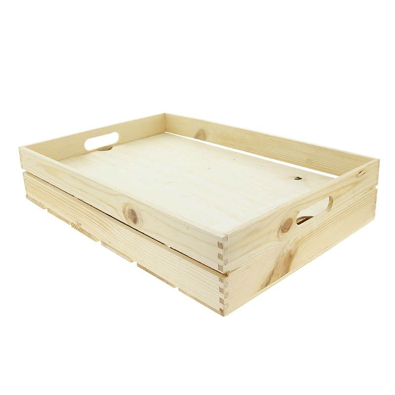 Cagette bois gm naturelle + faux fond bois - par 1
