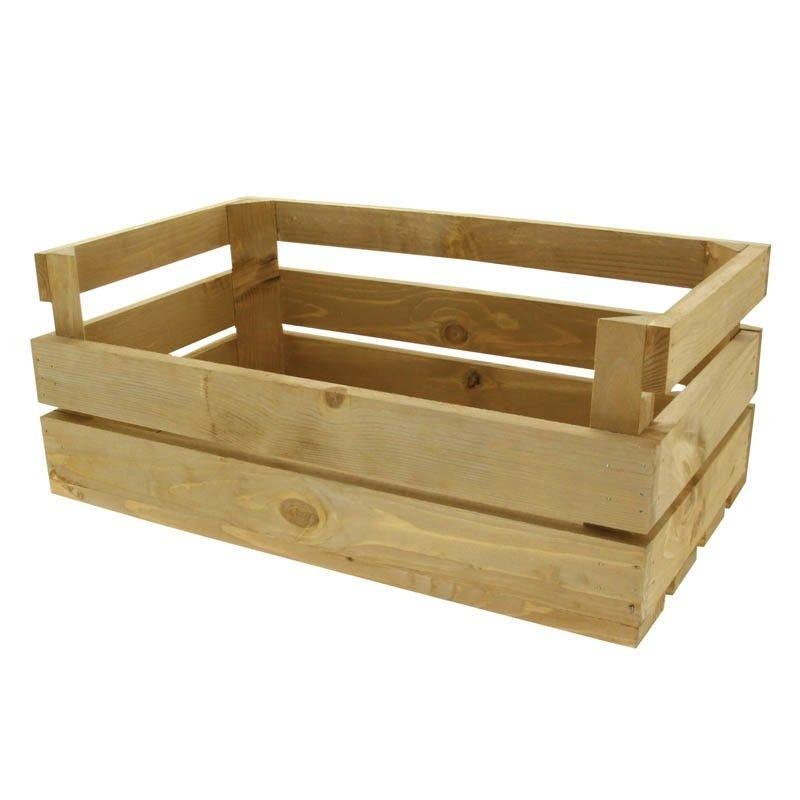 Cagette bois naturel - par 1