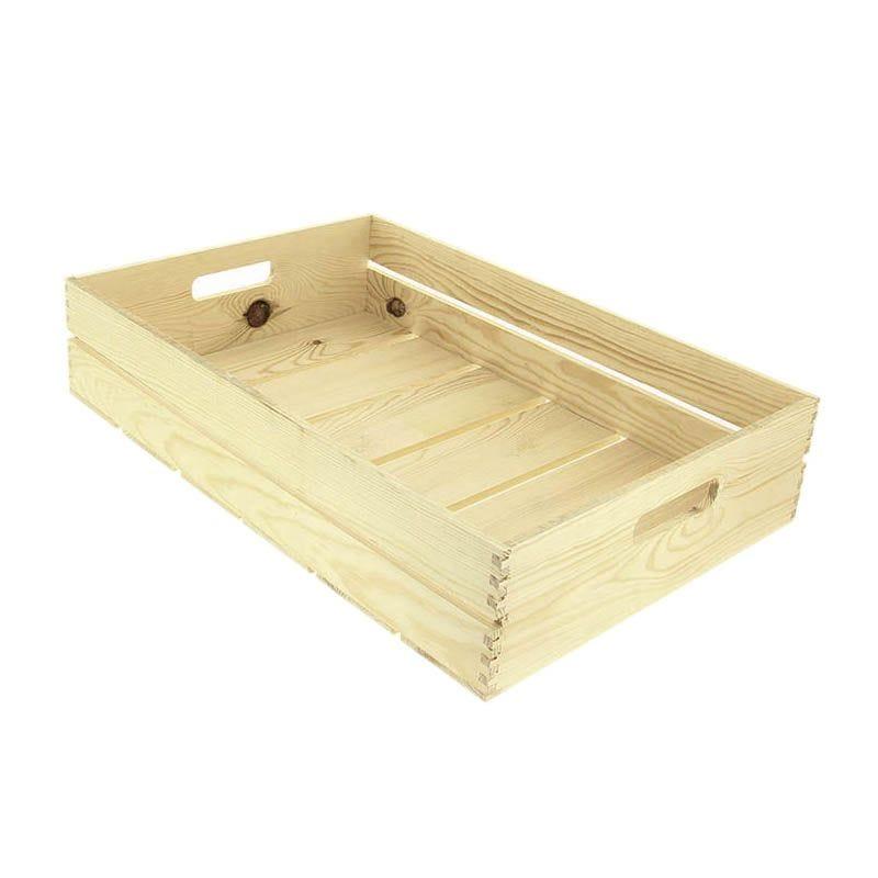 Cagette bois rectangle gm 60x40 - par 5