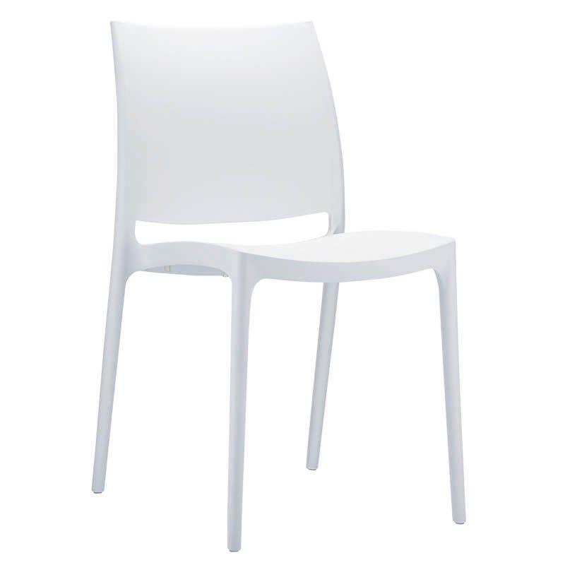 Chaise inca - blanc - par 1 (photo)