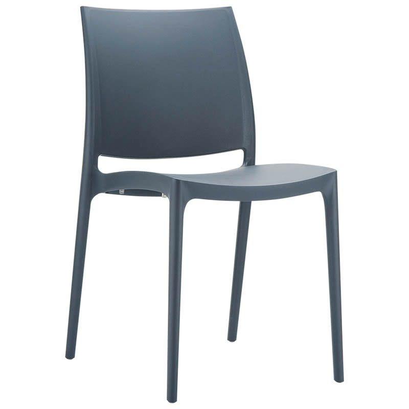 Chaise inca - gris foncé - par 1 (photo)