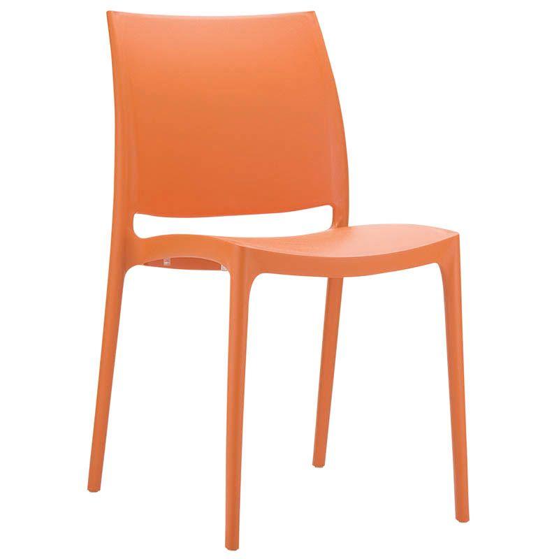 Chaise inca - orange - par 1 (photo)