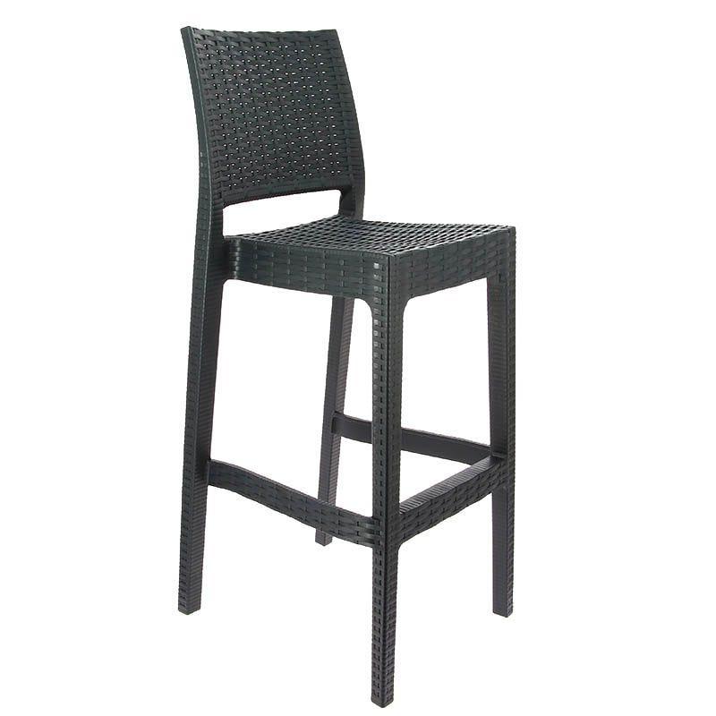 Chaise haute porquerolles polypropylene gris - par 1 (photo)
