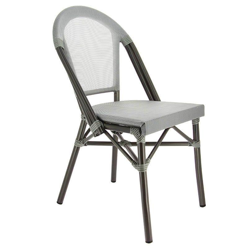 Chaise biarritz - gris - par 1 (photo)