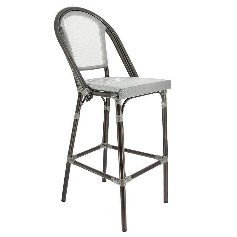 Chaise haute biarritz - gris - par 1 (photo)