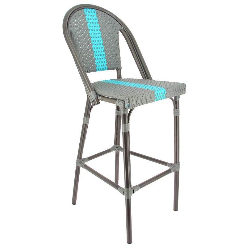 Chaise haute monaco - bleu - par 1 (photo)