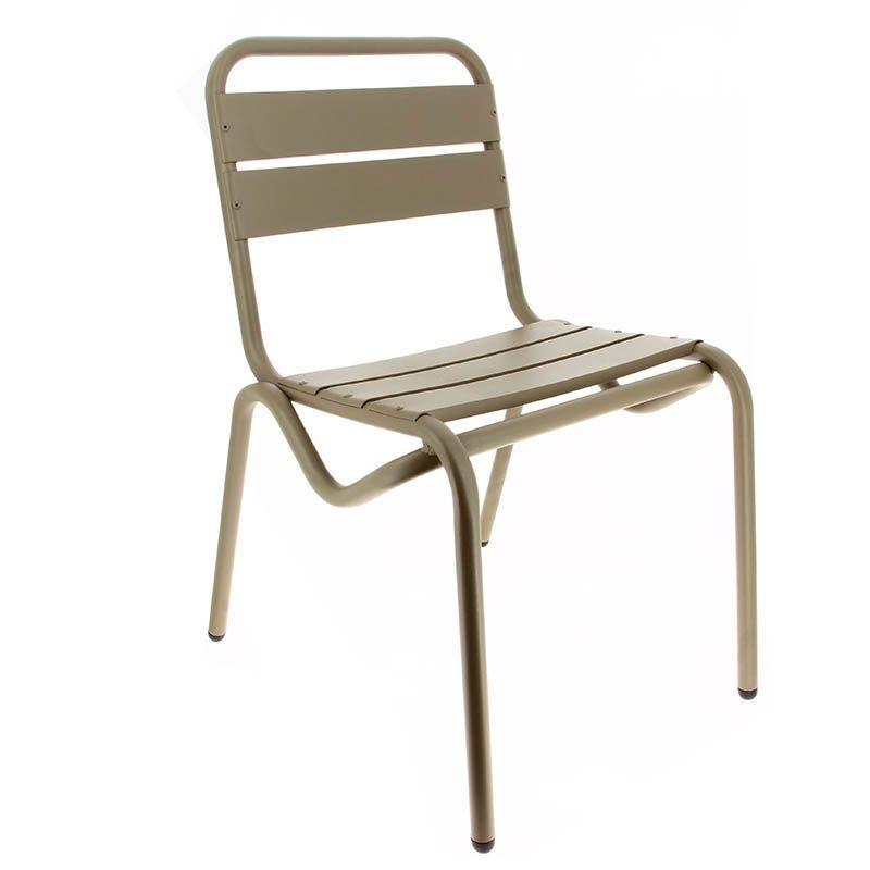 Chaise avignon - taupe - par 1 (photo)