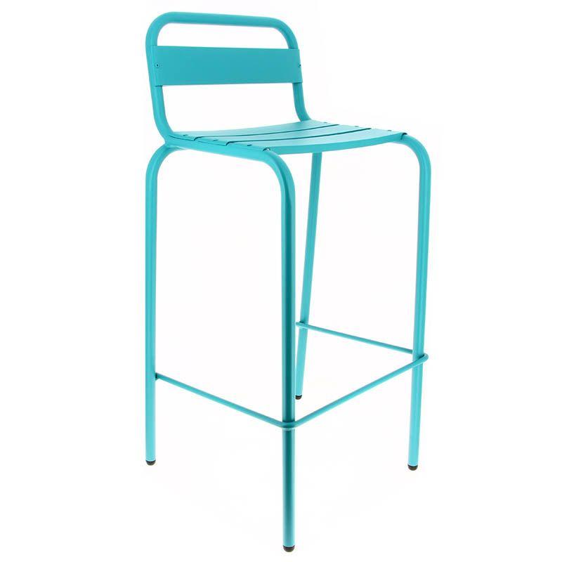 Chaise haute avignon - bleu - par 1 (photo)