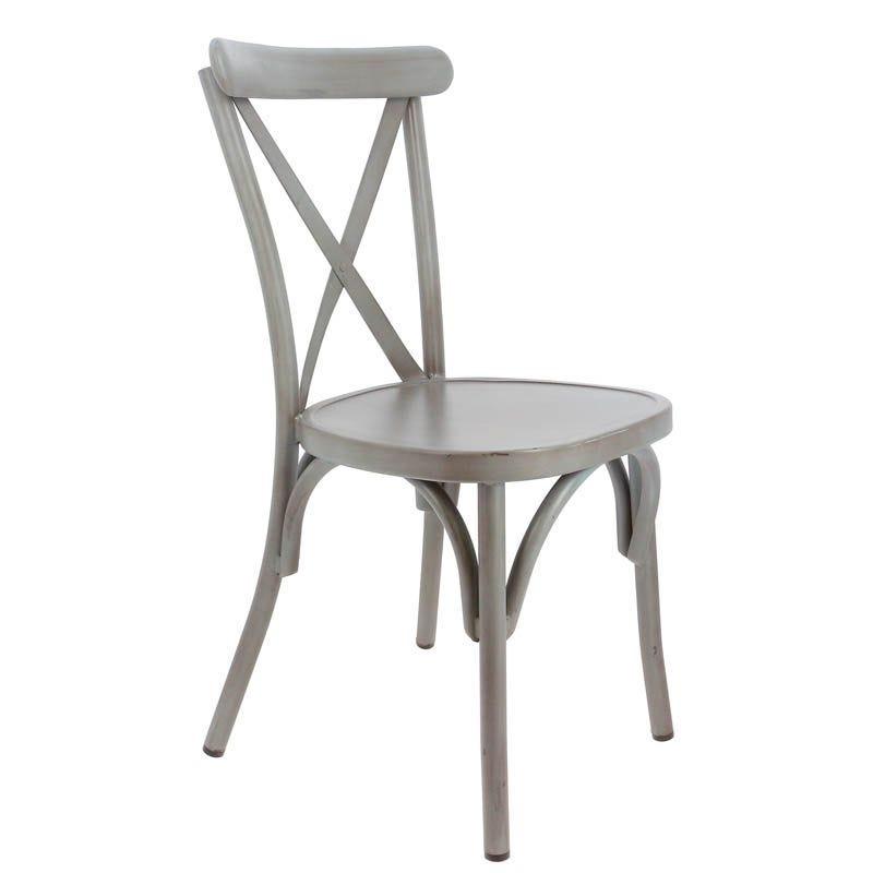 Chaise bayonne - gris - par 1 (photo)