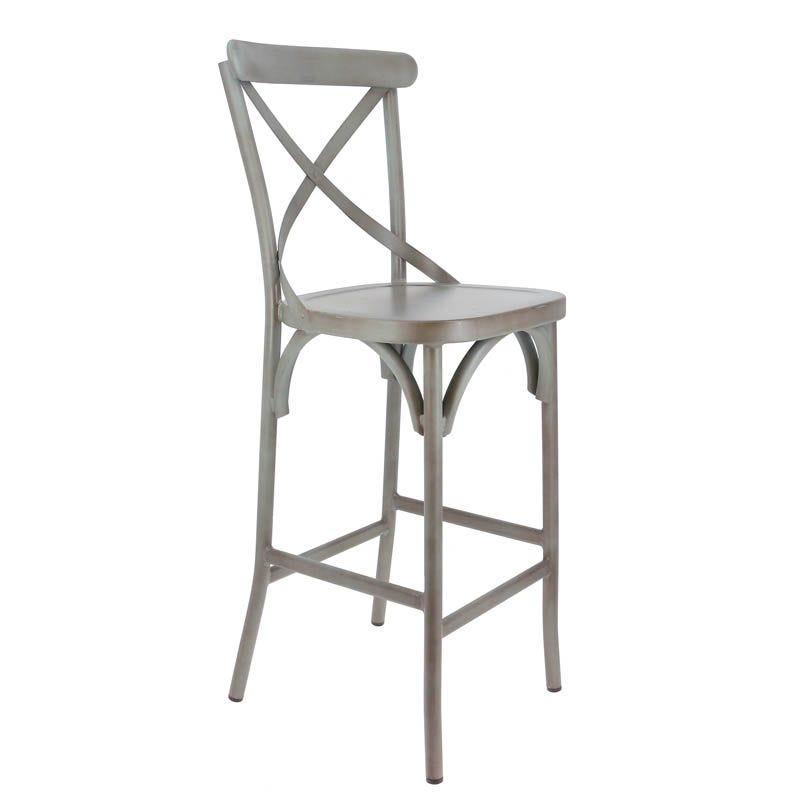 Chaise haute bayonne - gris - par 2 (photo)